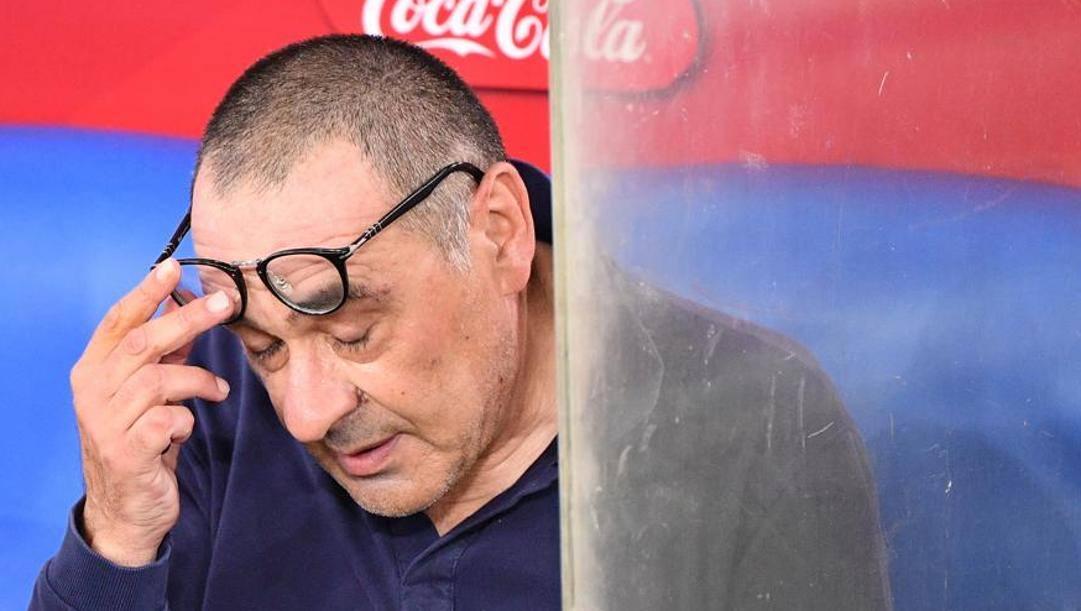 Maurizio Sarri. Lapresse